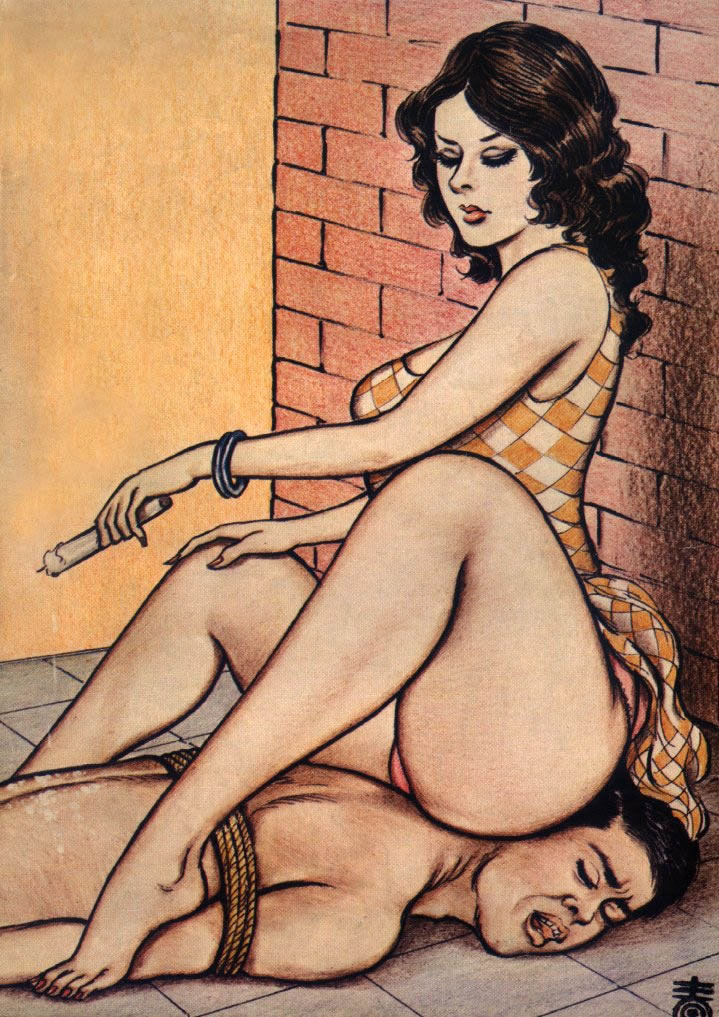 Bbw femdom face sitting art marnot